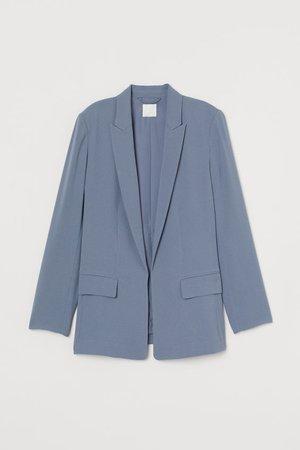 Long Jacket - Pigeon blue - Ladies | H&M US
