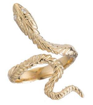 Yellow Gold Snake Ring
