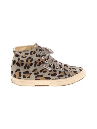 Superga 100% Leather Animal Print Tan Gray Sneakers Size 38 (EU) - 56% off | thredUP
