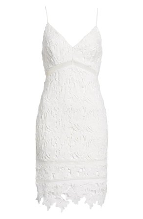 ASTR Lace Bodycon Dress white