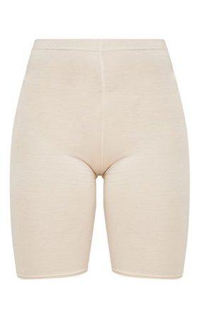 Sand Basic Bike Shorts | Shorts | PrettyLittleThing USA