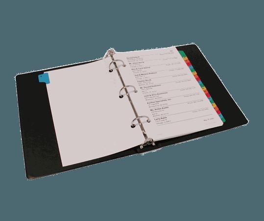 open full binder