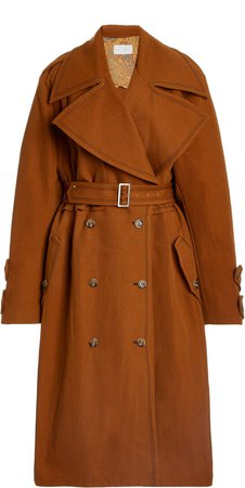 ARJE Sylvie Cotton-Blend Trench Coat