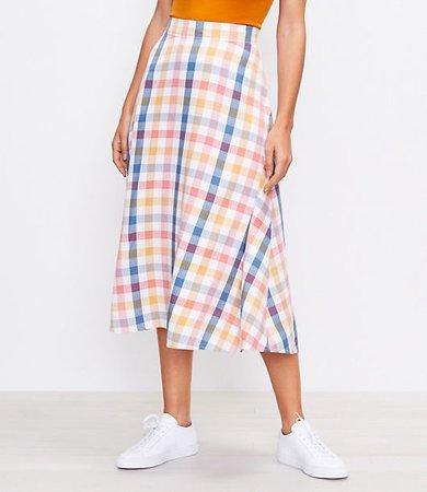 Gingham Midi Skirt