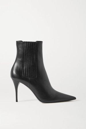 Black Lexi leather ankle boots | SAINT LAURENT | NET-A-PORTER