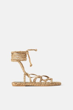 NATURAL WOVEN STRAP SANDALS - View all-SHOES-WOMAN | ZARA United States