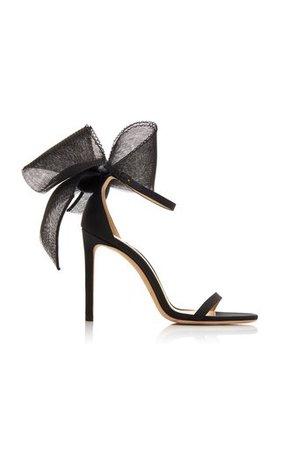 Bianca Suede Sandals By Amina Muaddi   Moda Operandi