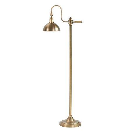 James Antique Brass Swan Neck Floor Lamp