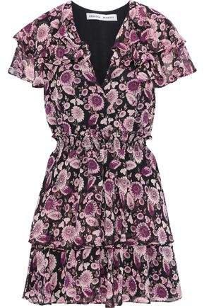 Miley Ruffled Floral-print Georgette Mini Dress