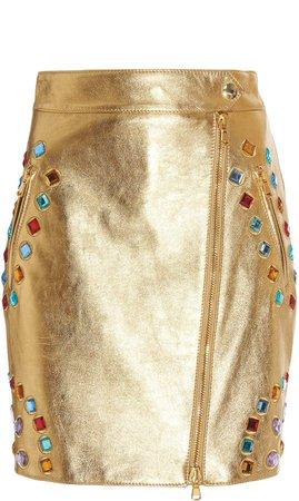 Jewel-Embellished Mini Skirt