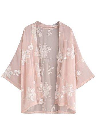pastel pink kimono