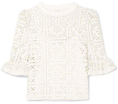 Cutout Jersey Top - White