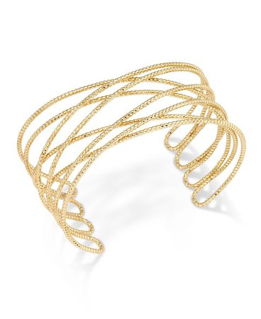 INC International Concepts Gold-Tone Crisscross Cuff Bracelet, Created for Macy's & Reviews - Bracelets - Jewelry & Watches - Macy's