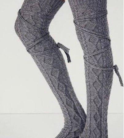 Gray Winter Socks