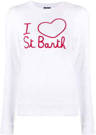 Embroidered Long-Sleeved Top