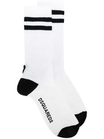 $95 Dsquared2 Striped Sports Socks - Buy Online - Fast Delivery, Price, Photo