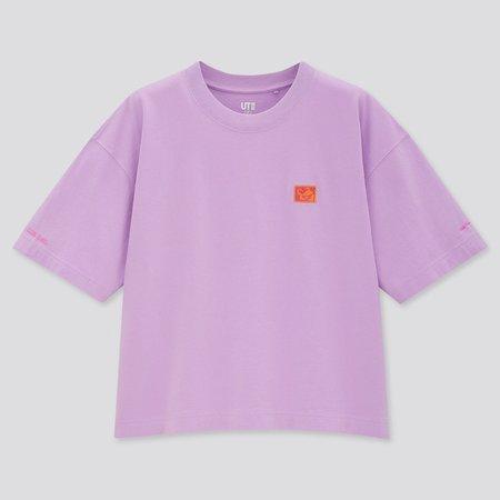 WOMEN MICKEY MOUSE X KEITH HARING UT (SHORT-SLEEVE GRAPHIC T-SHIRT) | UNIQLO US purple