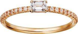 CRB4216700 - Etincelle de Cartier ring - Pink gold, diamonds - Cartier