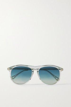 Pink Wayfarer round-frame acetate sunglasses   Chloé   NET-A-PORTER