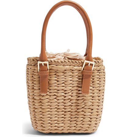 Topshop Sandy Straw Mini Grab Bag | Nordstrom