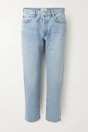 Parker Cropped High-rise Straight-leg Jeans - Light denim