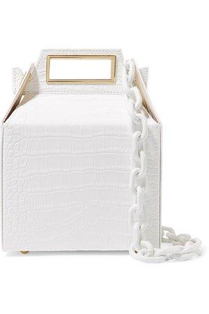 Pop & Suki   Takeout croc-effect leather shoulder bag   NET-A-PORTER.COM