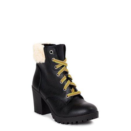 Time and Tru - Time and Tru Women's Sherpa Moto Boots - Walmart.com - Walmart.com