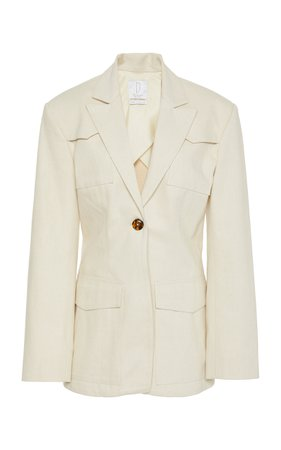 Colette Cotton Blazer by Deveaux | Moda Operandi