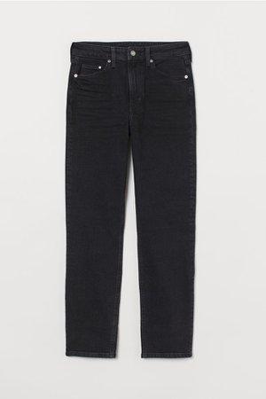 Джинсы Vintage Slim High Ankle - Черный деним - | H&M RU