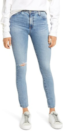 Farrah Ripped High Waist Ankle Skinny Jeans