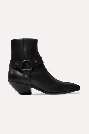 West Leather Ankle Boots - Black