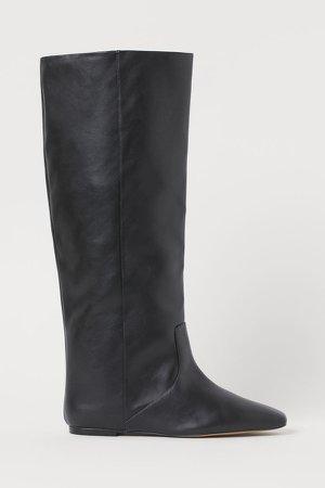 Knee-high Boots - Black