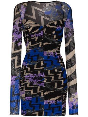 Emilio Pucci Graphic Print Midi Dress