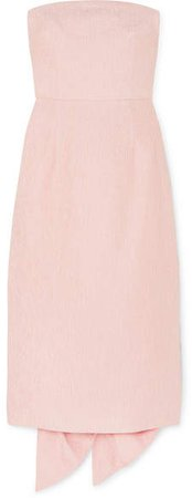 Harlow Bow-detailed Cloqué Dress - Pink