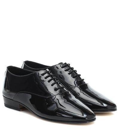 Saint Laurent - Patent-leather Derby shoes   Mytheresa