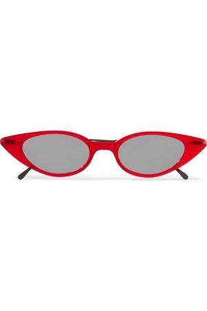 Illesteva | Marianne cat-eye acetate and gunmetal-tone sunglasses | NET-A-PORTER.COM