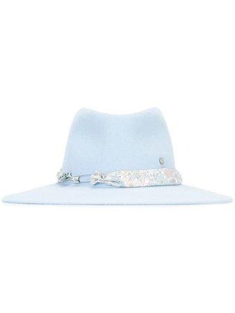 Blue Maison Michel Pierre Hat | Farfetch.com
