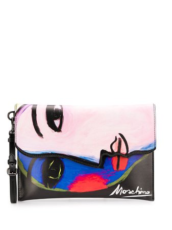 Moschino Clutch Con Stampa - Farfetch