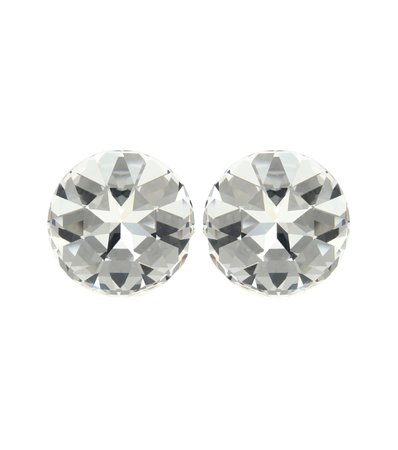 Crystal-Embellished Clip-On Earrings | Saint Laurent - Mytheresa