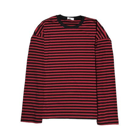 Women Men Fashion Brand Korea Style Vintage Black Red Stripe Ulzzang Harajuku O neck Long Sleeve T shirts Female Casual Tshirts|T-Shirts| - AliExpress