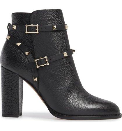Valentino Garavani Rockstud Block Heel Bootie (Women) | Nordstrom