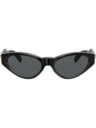 Versace Eyewear Oval Frame Sunglasses - Farfetch