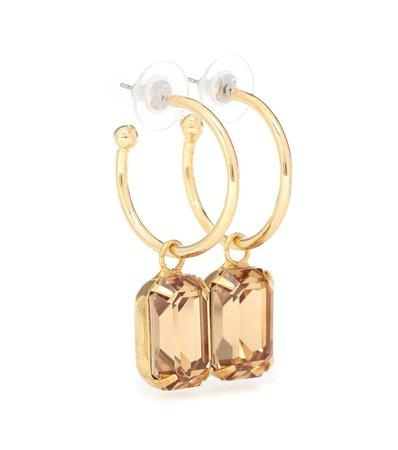 Jennifer Behr - Jane embellished hoop earrings | Mytheresa
