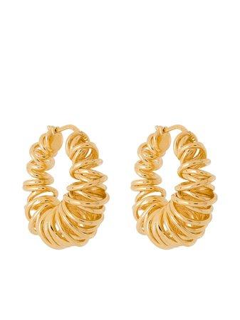 Bottega Veneta Spiral gold-plated Hoop Earrings - Farfetch
