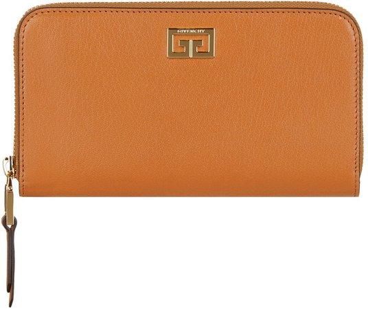 GV3 Long Zip Around Leather Wallet