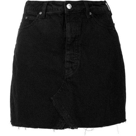 Iro short denim skirt