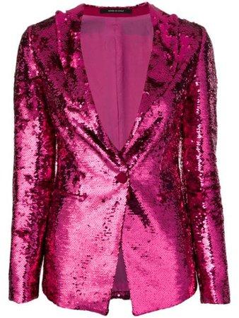 Shop pink Tagliatore Gilda sequin blazer with Express Delivery - Farfetch