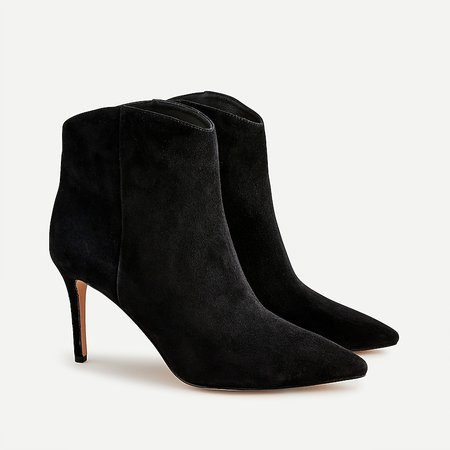J.Crew: Pointed Toe High-heel Ankle Boots In Suede For Women