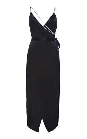 David Koma Crystal Chain Strap Crepe Cocktail Dress