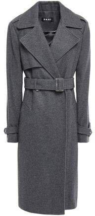 Wool-blend Felt Trench Coat